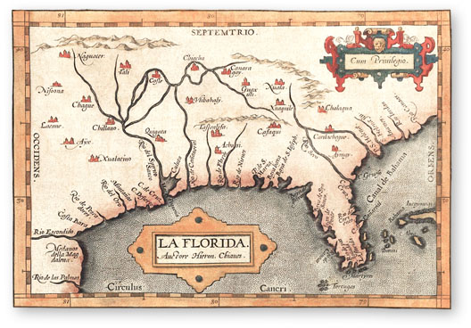 Spanish Florida Map Images