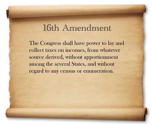 16th Amendment 16th Amendment