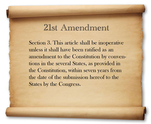 the reason for the creation of the 18th amendment As other answers have mentioned, there were state and local laws that prohibited alcohol before the constitutional amendment and there is the obvious fact that a constitutional amendment is a more permanent measure than a normal law, which would require a more complex measure to overturn (there.