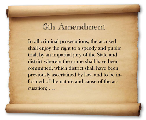 history government sixth amendment