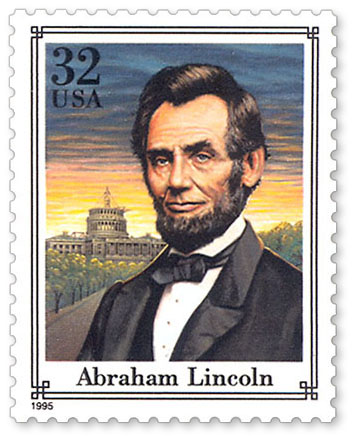 Abraham Lincoln 1995 Stamp