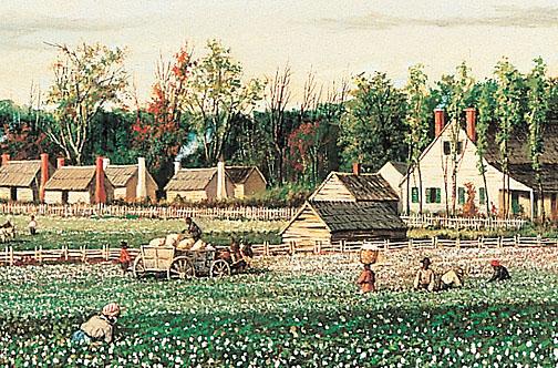 Antebellum Cotton Plantation