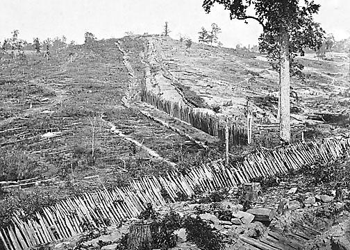 Atlanta pallisades 1864 - Chevaux de frise ...