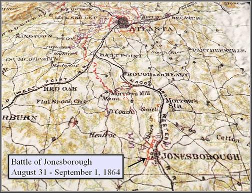 Map Of Jonesboro Georgia.Battle Of Jonesboro Map