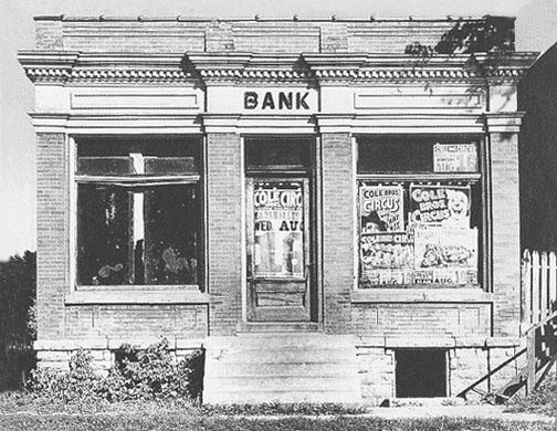 Closed bank 1930s