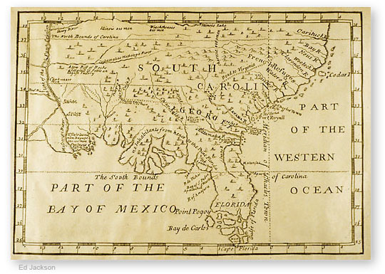 Georgia Map - Georgia map 1733