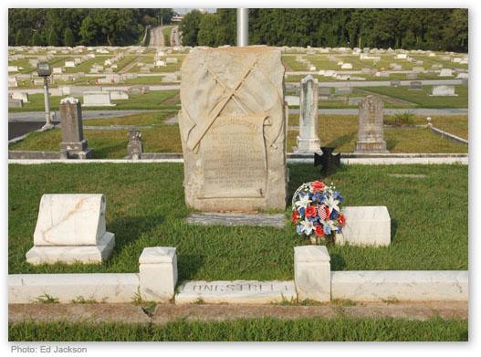 Longstreet's resting place in Alta Vista Cemetery