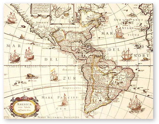 new world map 1600s
