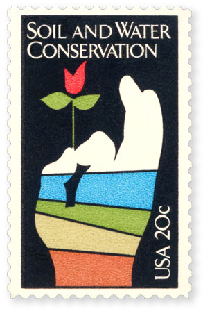 Soil and water conservation stamp for Soil conservation act