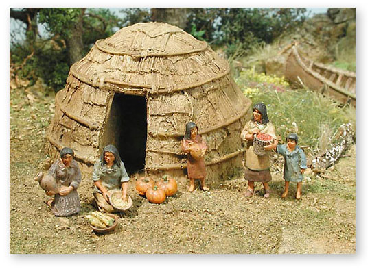 Woodland indian house for Indian house image gallery