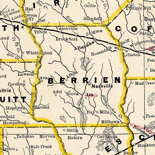 Railroad Map Of Georgia.Georgiainfo