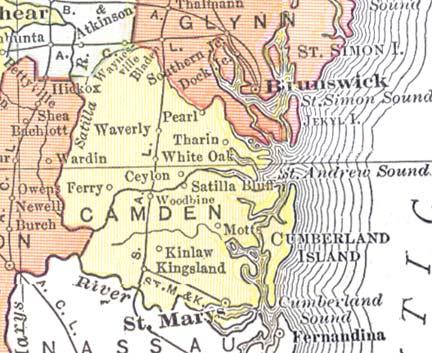 GeorgiaInfo Camden County Maps on