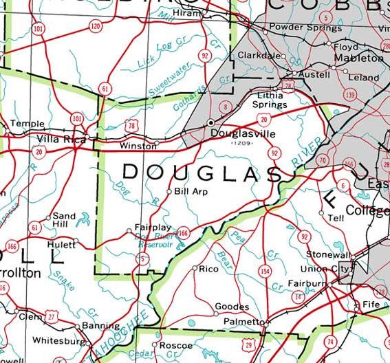 GeorgiaInfo Ge County Map on
