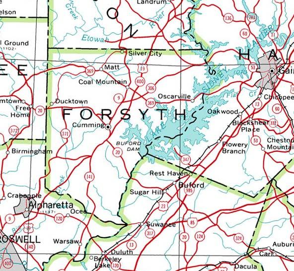 Forsyth Georgia Map.Georgiainfo