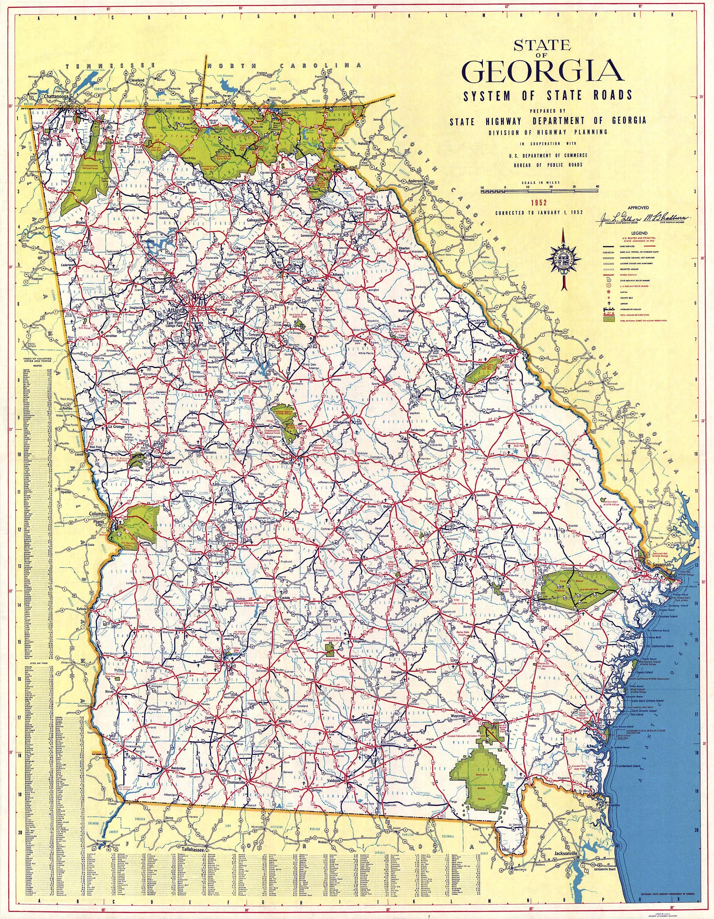 Map Of Georgia Usa Counties.Georgiainfo