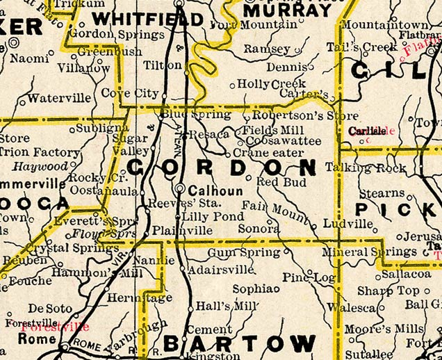 georgia map with cities and counties with Gordon1885bmap on Jackson  GA furthermore Jefferson1883map as well Where Is South Bend moreover Hawaii County Map further Rabun1999map.