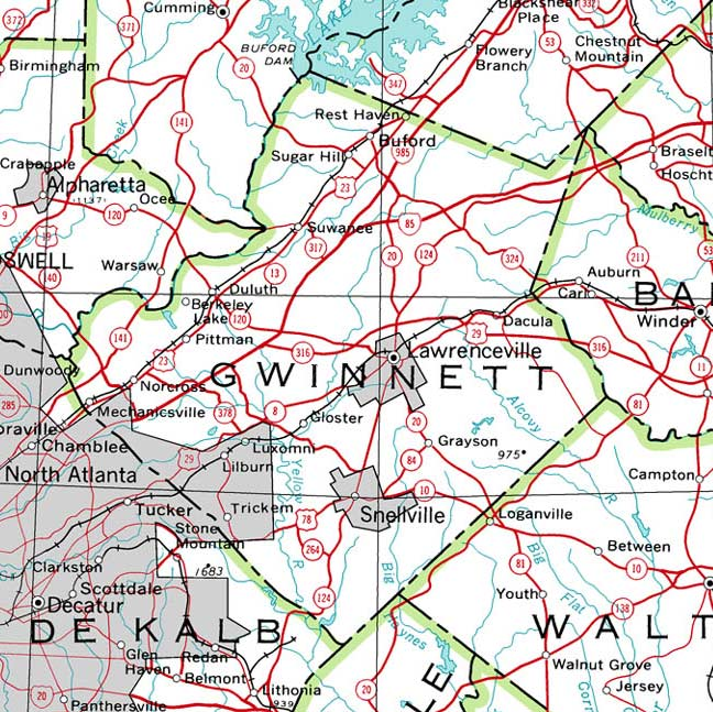 Gwinnett County Map GeorgiaInfo