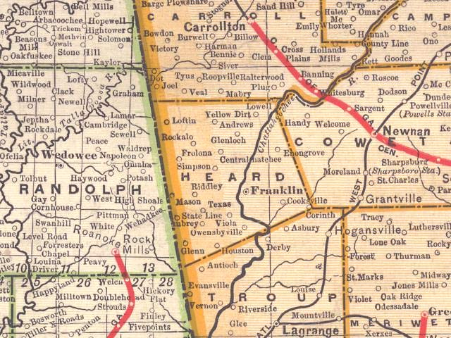 georgia county maps with Heard1899map on MapTownsCo1939 52 together with Heard1899map also Mitchell1999map likewise State cwfa georgia also Calhoun2001map.