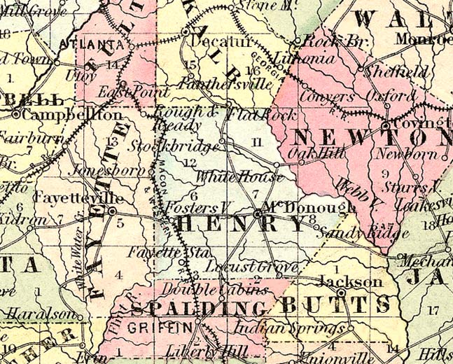 henry1855map Map For Georgia on weather for georgia, information for georgia, snow forecast for georgia, flag for georgia,