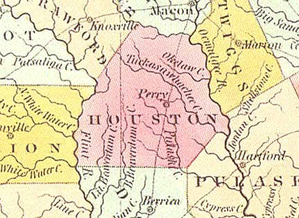 Map Of Georgia 1830.Georgiainfo