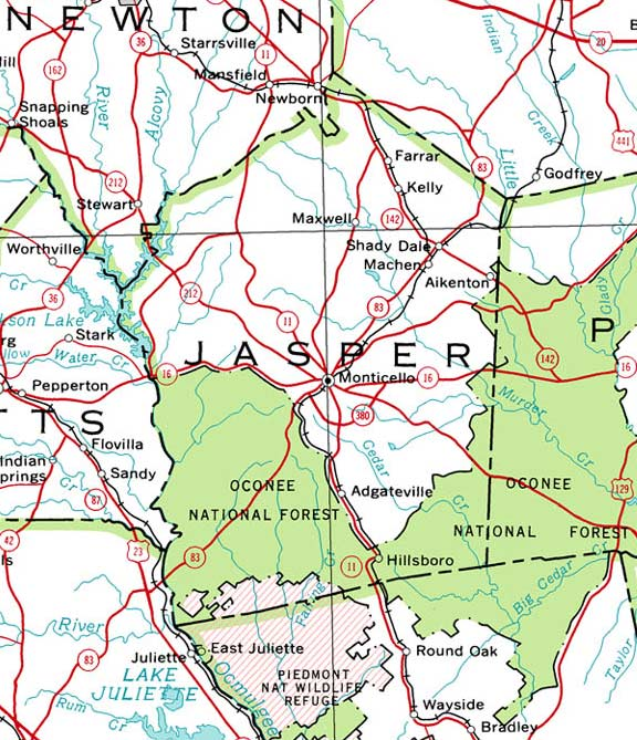 Jasper Georgia Map.Georgiainfo