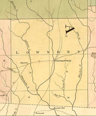 1839 map of Lowndes County