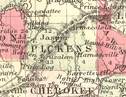 Map Of Cities In Pickens County Alabama