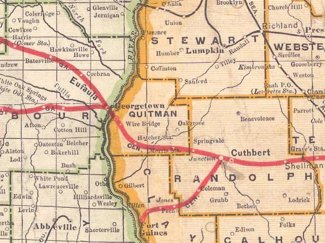 Map Of Quitman Georgia.Georgiainfo