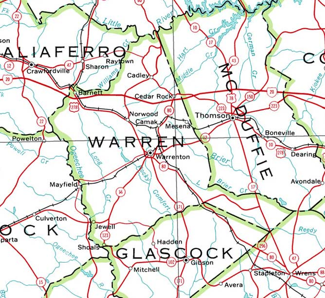 map of ga with cities with Warren2001map on Old Florida Towns On The St Johns River in addition Dooly2001map together with Ga Alapaha in addition Bibb1864map additionally Heard1899map.