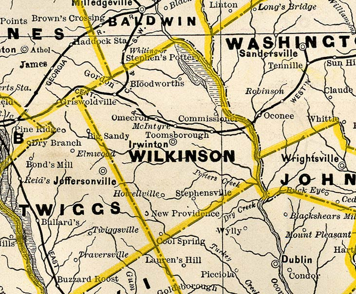 map of ga with cities with Wilkinson1885bmap on Old Florida Towns On The St Johns River in addition Dooly2001map together with Ga Alapaha in addition Bibb1864map additionally Heard1899map.