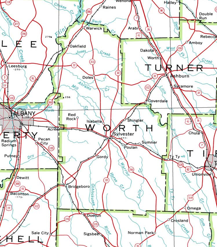 map of ga with cities with Worth2001map on Old Florida Towns On The St Johns River in addition Dooly2001map together with Ga Alapaha in addition Bibb1864map additionally Heard1899map.